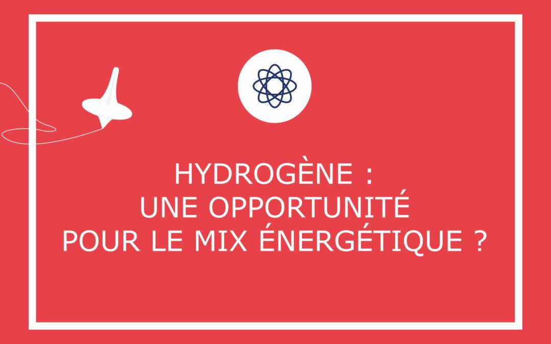 Hydrogène : une opportunité pour le mix énergétique ?