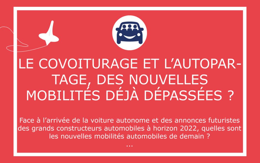 Le covoiturage et l'autopartage, des nouvelles mobilités déjà dépassées ?