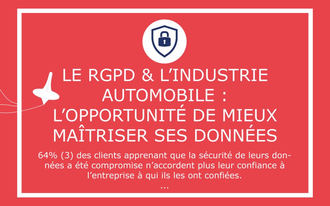 Le RGPD & l'industrie automobile :  L'opportunité de mieux maîtriser ses données