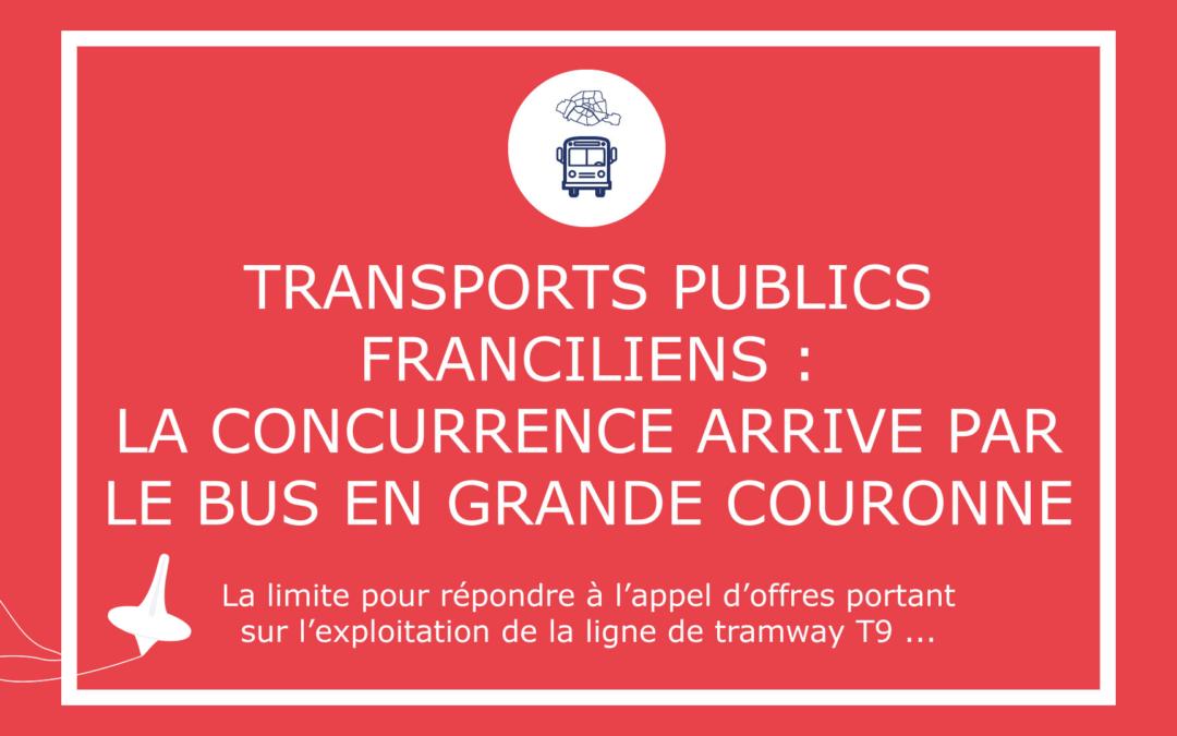 Transports publics franciliens : la concurrence arrive par le bus en grande couronne