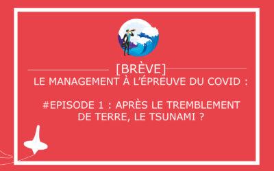 Le management à l'épreuve du COVID – Episode 1 : après le tremblement de terre, le tsunami ?